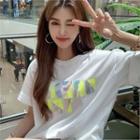 Letter Neon Hologram T-shirt