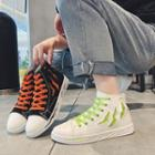 Ripped Canvas Sneakers