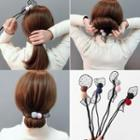 Mesh Bow Hair Bun Maker