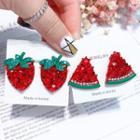 Rhinestone Fruit Stud Earring