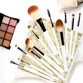 Set Of 12: Makeup Brush Set Of 12 - White - One Size