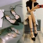 Tie-ankle Flats