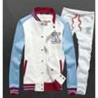 Set: Appliqué Baseball Jacket + Sweatpants