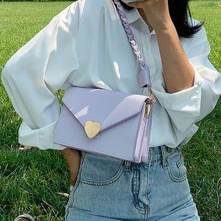 Flap Braided Shoulder Bag