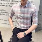 Gingham Short-sleeve Dress Shirt