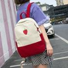 Fruit Embroidered Canvas Backpack