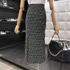 Dotted Mermaid Midi Skirt