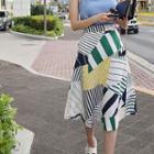 Pattern A-line Midi Skirt