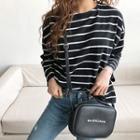 Boatneck Long-sleeve Stripe T-shirt