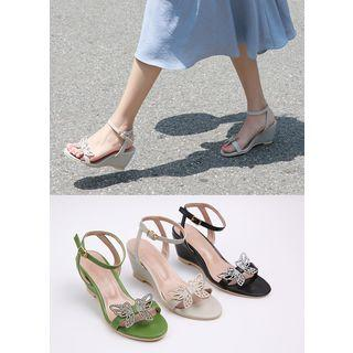 Butterfly Ankle-strap Wedges