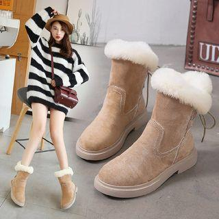 Furry Trim Snow Short Boots