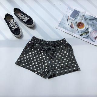 Drawstring Star Print Shorts
