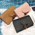 Faux Leather Toggle Wallet