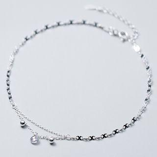 925 Sterling Silver Layered Anklet 925 Sterling Silver - Anklet - One Size