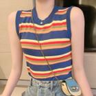 Color Block Tank Top As Shown In Figure - One Size