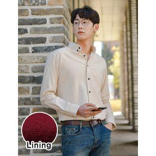 Wool-blend Long-sleeve Shirt