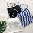 Strappy Striped Camisole Top