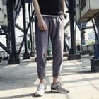 Drawstring Tapered Cropped Pants