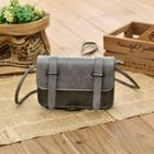 Faux Leather Buckled Mini Satchel