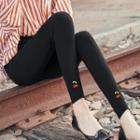 Cherry Embroidered Leggings