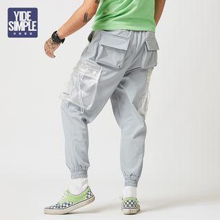 Transparent Pocket Cargo Pants