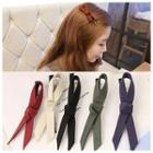 Ribbon Leather Hair Clamp