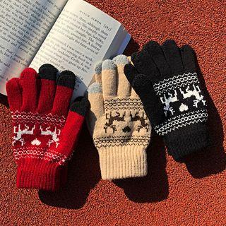 Deer Pattern Gloves