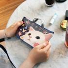 Choo Choo Cat Series Makeup Pouch With Handle