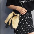 Woven-straw Bucket Bag