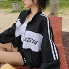 Colored Panel Zip-up Jacket
