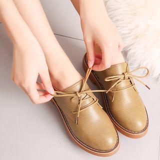 Plain Low Heel Oxfords