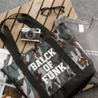 Camouflage Printed Tote With Strap