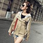 Long-sleeve Hooded Zip Jacket