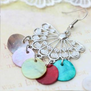 Bohemian Colorful Shell Earrings