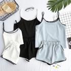 Set: Color-block Camisole Top + Shorts