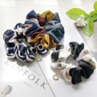 Rhinestone Printed Fabric Hair Tie