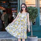 Floral Printed Tank Dress
