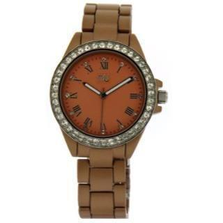 Aluminium-effect Bracelet Wrist Watch Nude - One Size