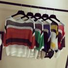 Striped Sheer Sweater