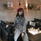 Houndstooth Coat With Sash