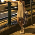 Oversized Tank Top White - One Size