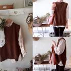 Wool Blend Sleeveless Knit Top