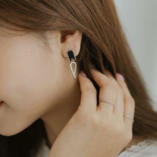 Twisted-hoop Drop Earrings