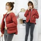 Two Tone Hooded Padded Jacket