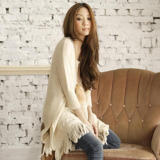 Fringed Long Sweater