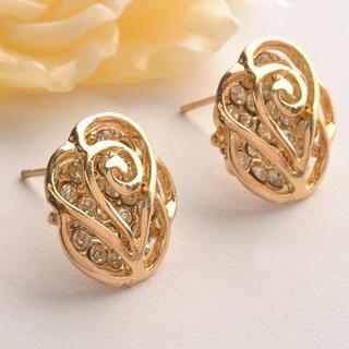 Diamond Flower Ring Gold - One Size