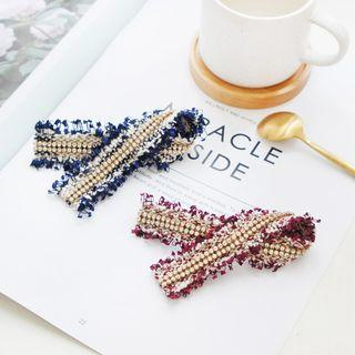 Embellished Fringed Fabric Hair Clip