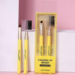 Set: Eyebrow Makeup Brush + Comb As Shown In Figure - One Size