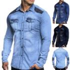 Long Sleeve Washed Denim Shirt
