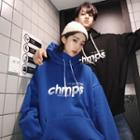 Couple Matching Turtleneck Lettering Hoodie